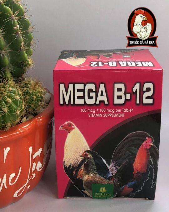Thuoc Cho Ga Mega B12 Lên Nước Máu -  Hộp 100 Viên